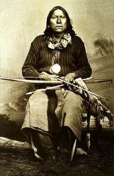 Kiowa War Chief, Satanta. -  One of the most complicated men ever to rise from the Great Plains. A highly intelligent chief, diplomat and philosopher who was also a murderer, (Warren Wagon Train Massacre in which seven teamsters were killed), but a man whose life story has only recently begun to receive its full measure of justice.