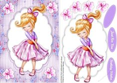 A lovely card for any teenager to receive on her birthday in lilac has two greeting tags and a blank one 3d Pattern, Patterns, Ace Card, Decoupage Paper, Quick Cards, Princess Zelda, Disney Princess, Kids Cards, Girl Birthday