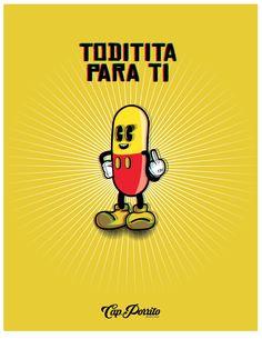 Toditita para ti!!!  #afiche #ilustracion #pastilla #cápsula #capitanporrito #Diseño #Diseñografico