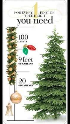 Mix small, medium & Large ornaments for maximum impact.  Height of tree x 14 = How many ornaments you need for your tree!