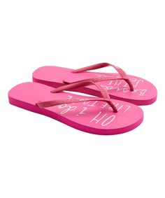 Take a look at this Hot Pink Sandy Flip-Flop - Women today!