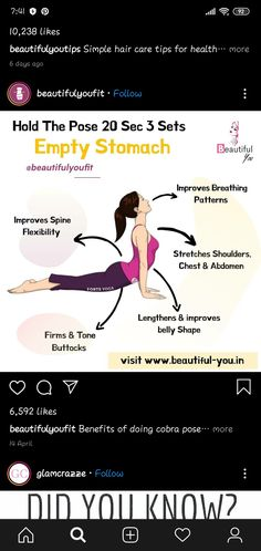 Gym Workout Tips, Fitness Workout For Women, Yoga Fitness, At Home Workouts, Health And Fitness Articles, Health Fitness, Yoga Facts, Le Pilates, Workout To Lose Weight Fast