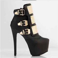 De la mujer moda plataforma de los tacones altos botines botas