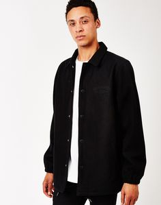 The Hundreds Foreigner Jacket in Black The Hundreds, Raincoat, Street Wear, Street Style, Sweatshirts, T Shirt, Jackets, Clothes, Black