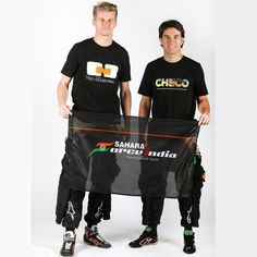 Sahara Force India Formula 1 Racing Team Flag F1