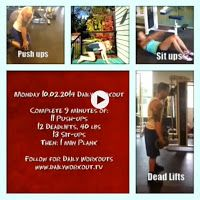 Daily Workout TV Monday 10.02.2014 workout