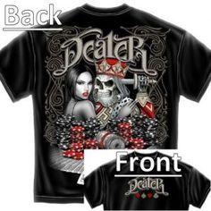 "$16.95 ""Dealer"" poker t-shirt from www.pokertshirts.ca"