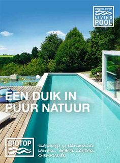 Bij een Biotop zwemvijver worden bij de filtering van het water geen chemicaliën gebruikt, waarbij u profiteert van het meest natuurlijke zwemwater.