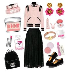 """Untitled #329"" by bhavna27 on Polyvore featuring Yves Saint Laurent, Les Petits Joueurs, MSGM, Viktor & Rolf, Christian Dior, philosophy, By Terry, Kiehl's, Oscar de la Renta and 100% Pure"