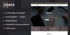 BOBER - Creative Digital Agency Template by Brainiak Bober ¨C Creative Digital Agency Template is a clean, unique, modern and elegant PSD templates for agencies, photographers, blogs,