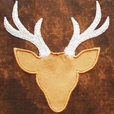 Native7 - Deer Applique Machine Embroidery Design