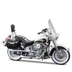 Miniatura Moto Harley-Davidson 1993 FLSTN Heritage Softail Maisto 1:18 - Machine Cult | A loja das camisetas de carro e moto