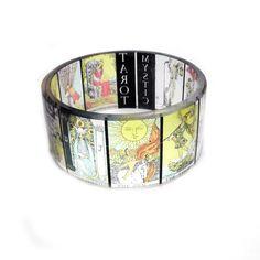 Tarot Chunky Resin Bangle Bracelet by BuyMyCrap on Etsy, www.facebook.com/buymycrap