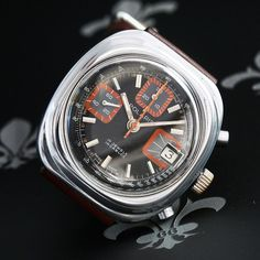 * A no-reserve auction DAILY starting at only 0.99 * Charles Gigandet Wakmann 'Polaris' Vintage Chronograph Watch Valjoux Cal. 7765