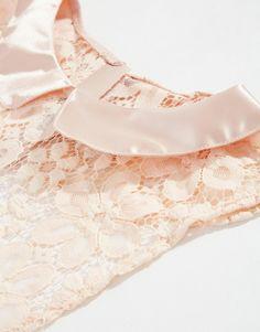 Image 2 ofASOS Pink Satin Collar Lace Bib