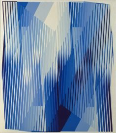 Ed Mieczkowski at the Cleveland Museum of Art, among others.  Blue and White Ford, 1966 acrylic on canvas, Framed - h:122.90 w:107.20 cm (h:48 3/8 w:42 3/16 inches) Unframed - h:121.10 w:105.40 cm (h:47 5/8 w:41 7/16 inches). Wishing Well Fund 1966.210