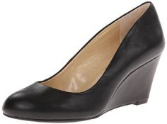 Jessica Simpson Women's Sampson Wedge Pump,Black,9 M US