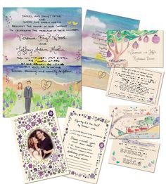 beautiful completely custom wedding stationary! love love love. $70 for printable files.