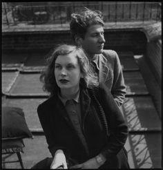 Lorna Cecilia Wishart and Lucian Freud by Francis Goodman, 1945