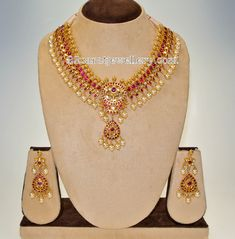 Ruby Set by Swarna Sri Jewels - Jewellery Designs