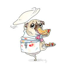"""Figure out more relevant information on """"famn pugs"""". Take a look at our site. Pug Illustration, Illustrations, Animals And Pets, Cute Animals, Pugs And Kisses, Pug Art, Cute Pugs, Funny Pugs, Pug Puppies"""