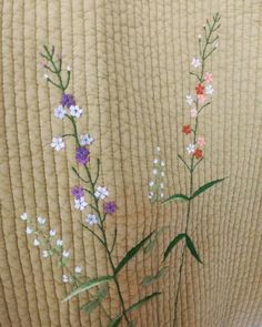 Embroidery Patterns, Hand Embroidery, Embroidered Quilts, Japanese Embroidery, Couture, Needlework, Embellishments, Applique, Delicate