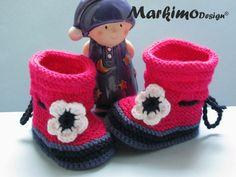 Babyschuhe Babybooties Lena Sohlenlängen 8-11 cm von Markimo Design®