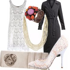 Fa molto Il grande Gatsby il vestito in pizzo, le cui linee ricordano i capi dei ruggenti anni '20 del proibizionismo. Un capo particolare che richiede scarpe particolari, come i tacchi in pizzo, e la borsetta decorata con le roselline in tessuto.   A completare il tutto, un cappotto lungo fino ai piedi, che celerà tutti i nostri segreti fino a che non lo toglieremo!