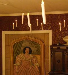 floating candles for the great hall, talking paintings, and other ideas on this blog