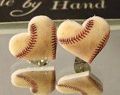 Baseball heart Stud Earrings