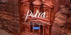 Petra in StreetView - Site of the Day February 19 2016 Website Color Palette, Website Color Schemes, Web Design Awards, Web Design Trends, Website Design Inspiration, Graphic Design Blog, Award Winning Websites, Web Design Examples, City Of Petra
