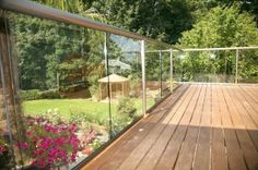 Image result for glass balustrade decking