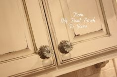 From My Front Porch To Yours: How I Created My Kitchen Cabinet Finish *wax stain