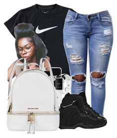 """""""Untitled #295"""" by darkskinn-awa ❤ liked on Polyvore featuring NIKE and Michael Kors"""
