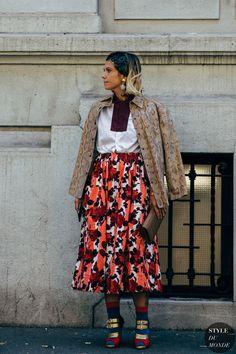 Street Looks, High Fashion, Street Fashion, Full Skirts, Milan Fashion Weeks, Street Chic, Everyday Fashion, Street Styles, Cool Style