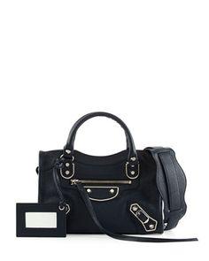 Metallic Edge Nickel City Bag, Royal Blue by Balenciaga at Neiman Marcus.