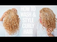 How to wash and style curly hair - YouTube
