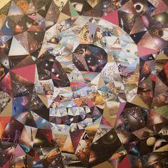 Skull collages by Steven Quinn