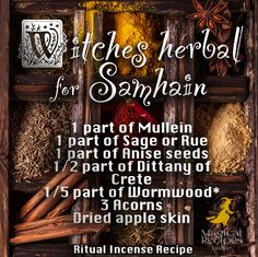 Halloween Magic & Spells: Witches Herbal for Samhain, what herbs to pick for halloween magic sahmain Samhain Ritual, Blessed Samhain, Samhain Halloween, Halloween Magic, Samhain Recipes, Kitchen Witchery, Pagan Witch, Party Decoration, Sabbats