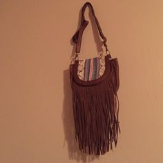 Fringe cross body purse Great for festivals! Perfect spring/summer bag. Bundles available Mudd Bags Crossbody Bags