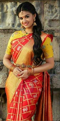 Indian Beauty Saree, Indian Sarees, Silk Sarees, Beautiful Saree, Beautiful Indian Actress, Beautiful Bride, Samantha In Saree, Indische Sarees, Hot Girls