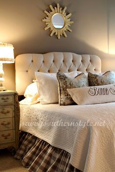 Beautiful Master Bedroom from Savvy Southern Style.