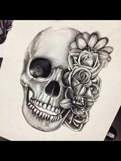 Cool Skull Tattoos For Women – My hair and beauty Neue Tattoos, Body Art Tattoos, Sleeve Tattoos, Tatoos, Heart Tattoos, Rosary Tattoos, Bracelet Tattoos, Bow Tattoos, Piercing Tattoo