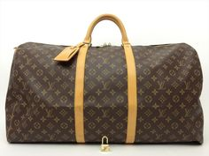 Louis Vuitton Authentic Monogram Keepall 60 TRAVEL LUGGAGE Boston Duffle Gym Bag #LouisVuitton #Satchel