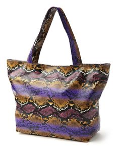 Loving this awesome snakeskin tote from Fashion Bug!