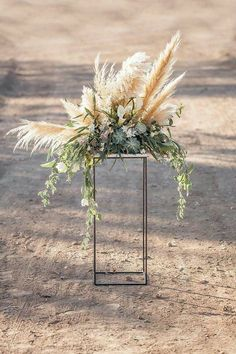 Gorgeous isle floral for beach wedding