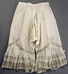 Lingerie Vintage - Culotte Longue Ouverte - 1900