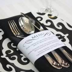 Black & White Party Menu
