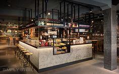 Stan & Co restaurant by De Horeca Fabriek, Utrecht – Netherlands bar counter- shelf Cafe Bar, Cafe Restaurant, Design Bar Restaurant, Cafe Bistro, Open Kitchen Restaurant, Vintage Restaurant, Coffee Shop Design, Cafe Design, Design Blog
