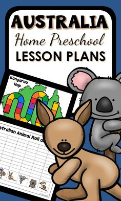 Preschool Australian Animal Lesson Plans, Printables, and Hands-on Learning Activities. Perfect for Australia Day in January. Preschool Lesson Plans, Kindergarten Lessons, Preschool At Home, Preschool Classroom, Preschool Activities, Australia Day Craft Preschool, Homeschool Kindergarten, Kindergarten Worksheets, Summer School Themes